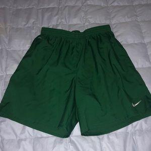Nike green soccer shorts